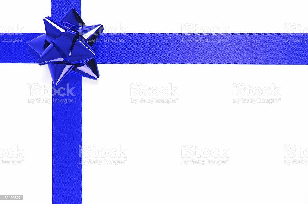Blue Ribbon and bow royalty-free stock photo