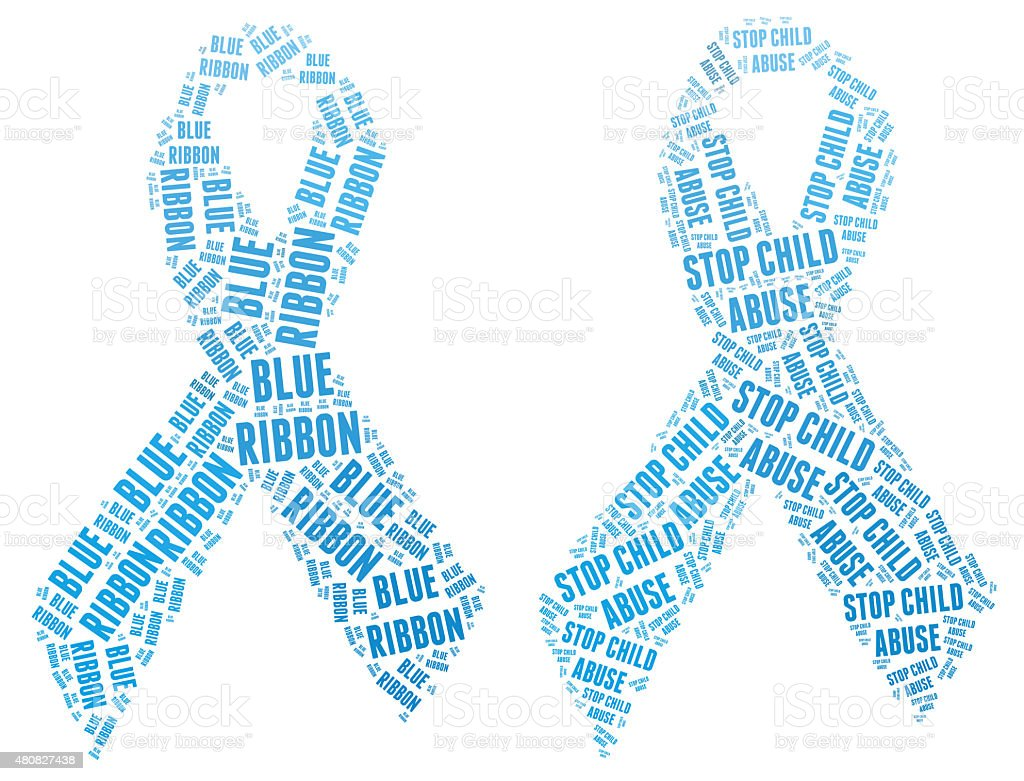 Blue Ribbon campaign - Stop Child Abuse stock photo