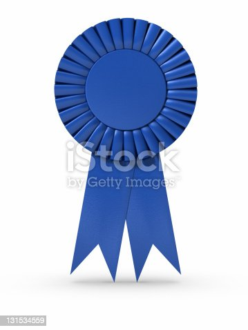 istock Blue Ribbon (isolated) 131534559