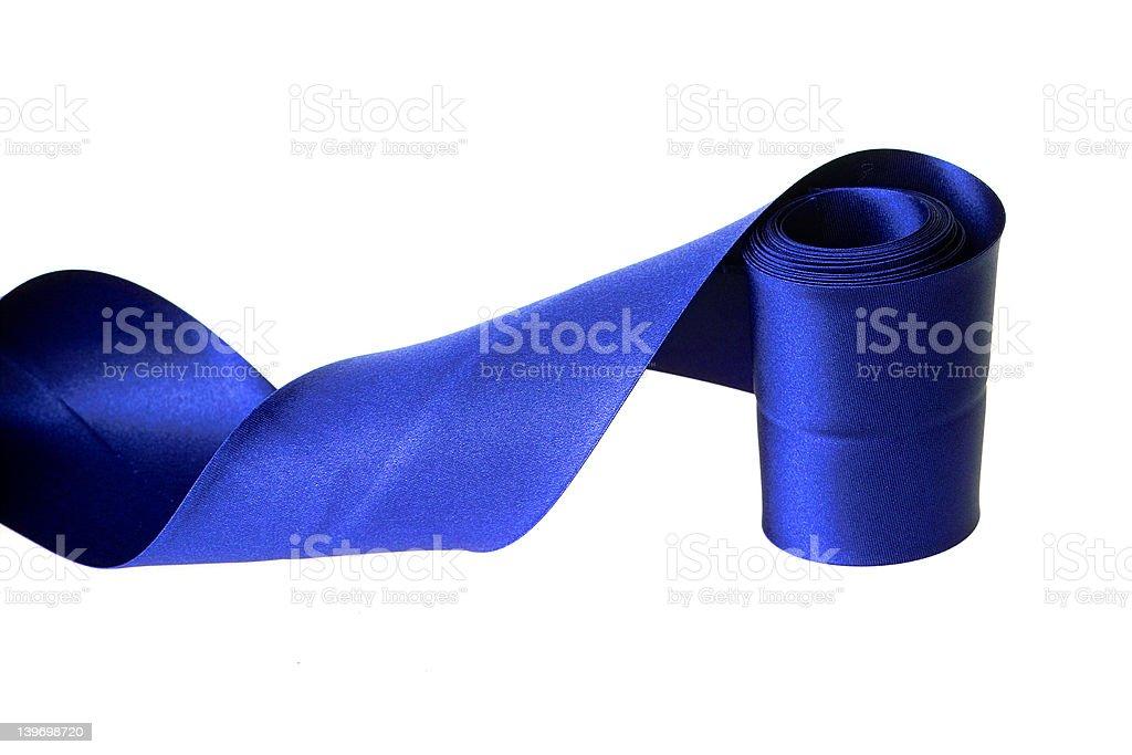 Blue ribbon royalty-free stock photo