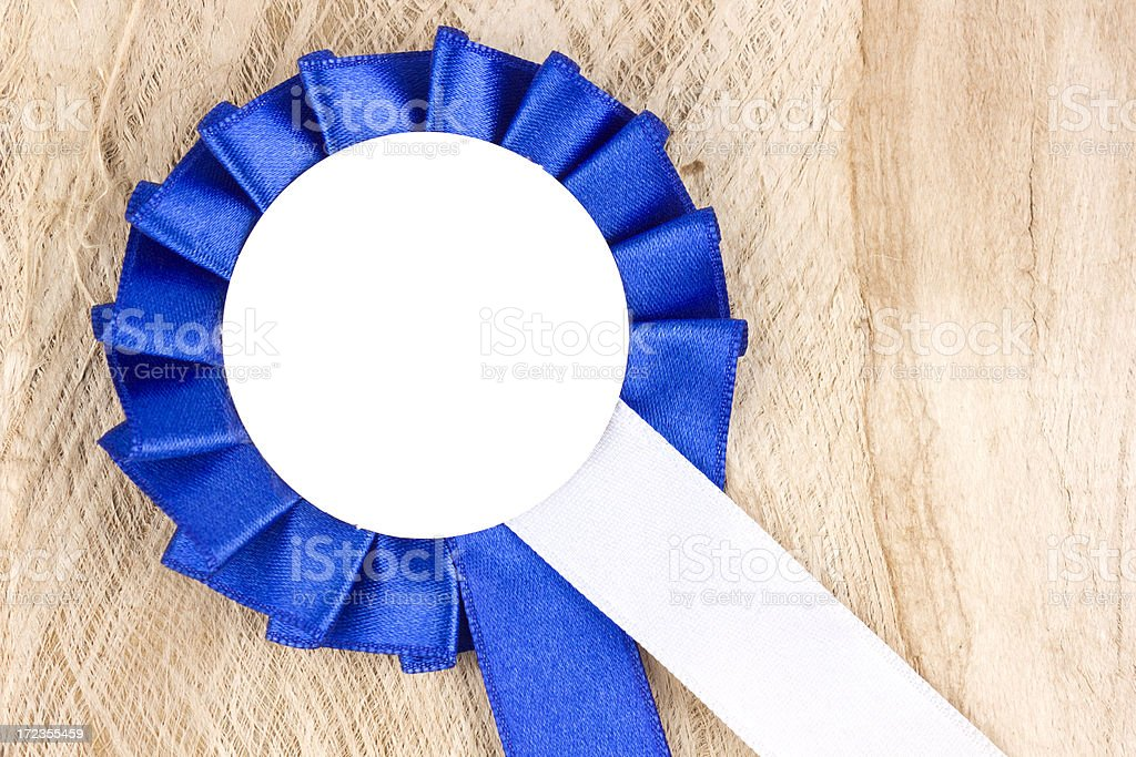 Blue ribbon royalty-free stock photo