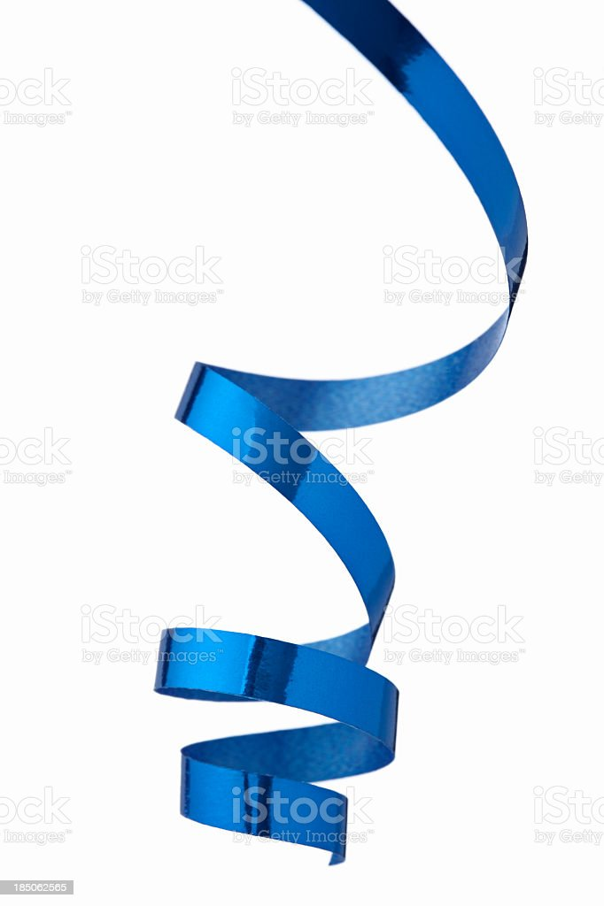 Blue ribbon stock photo