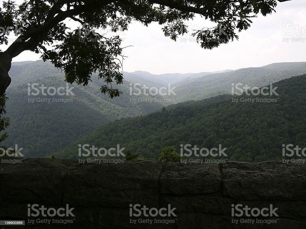 Blue Ridge Mountain Mist royalty-free stock photo