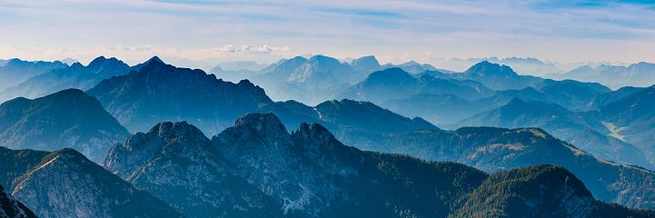 Blue, Ridge, Mountain,alps,evening,panoramic