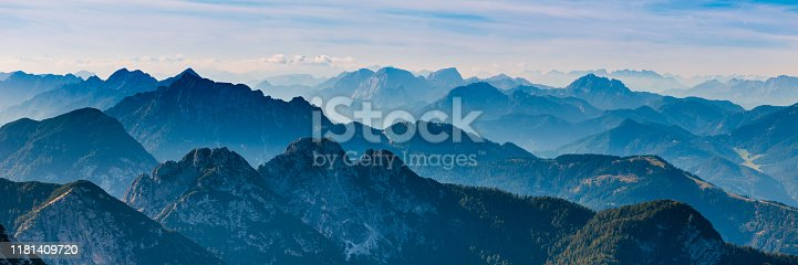 Blue, Ridge, Mountain,alps,evening,panoramic