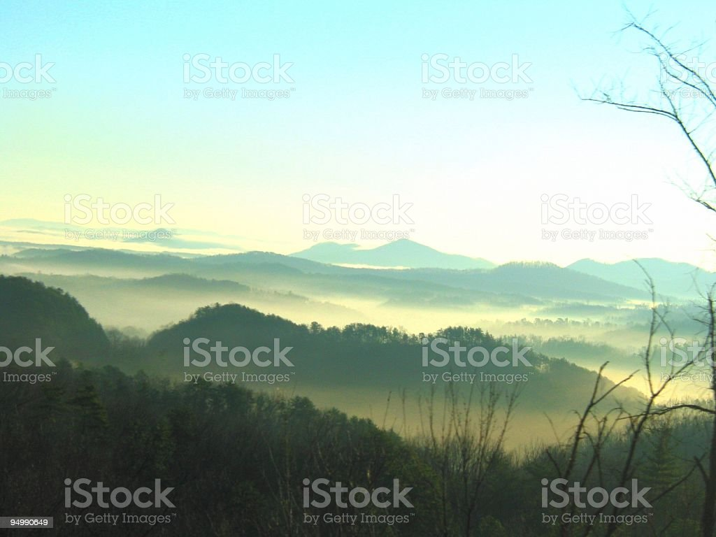 Blue Ridge Mountain Tops Surreal royalty-free stock photo