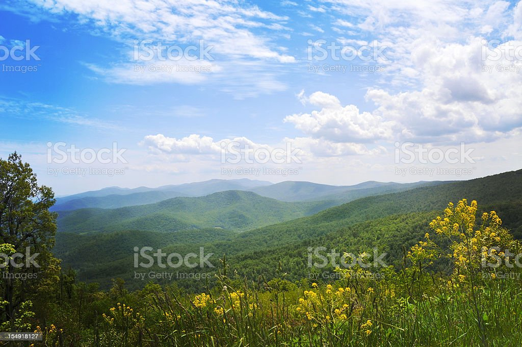 Blue Ridge Mountains, Appalachians, Virginia stock photo