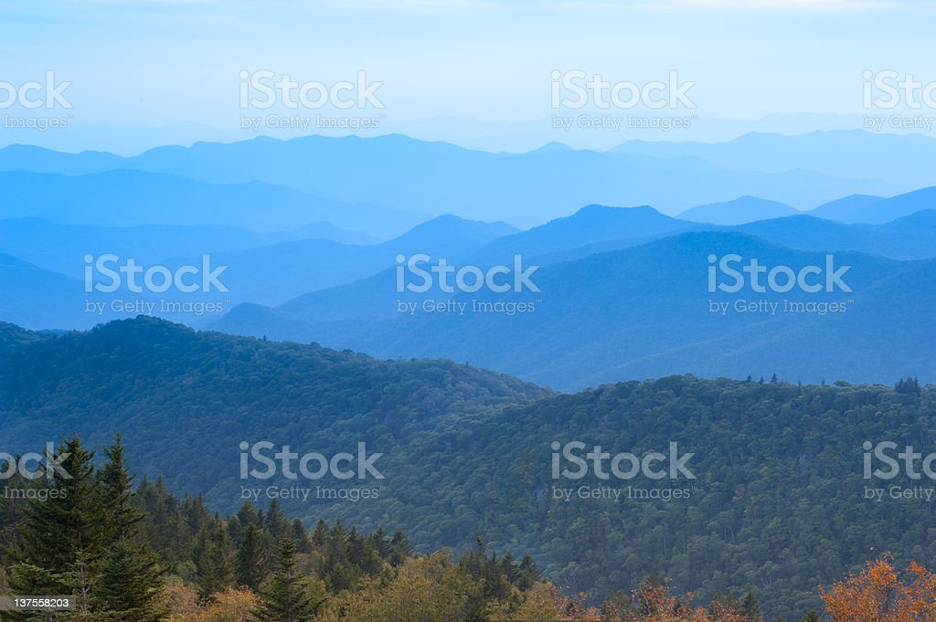Blue Ridge Mountains, Early September stock photo