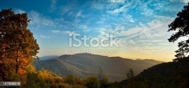 istock Blue Ridge Mountains in Autumn Panorama 157508516