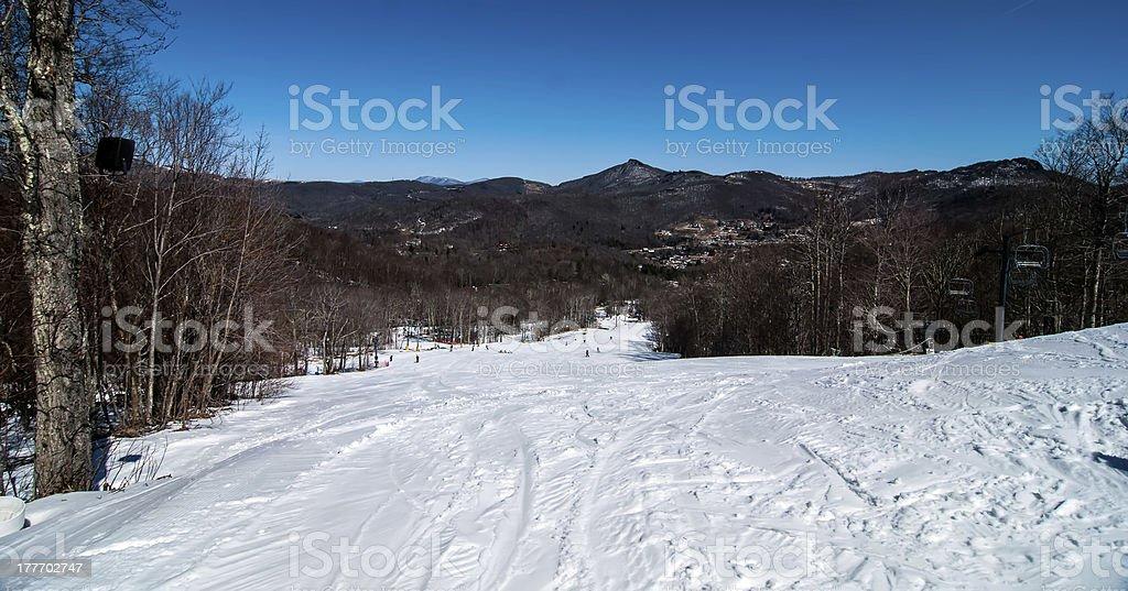 blue ridge mountains landscape in snow royalty-free stock photo