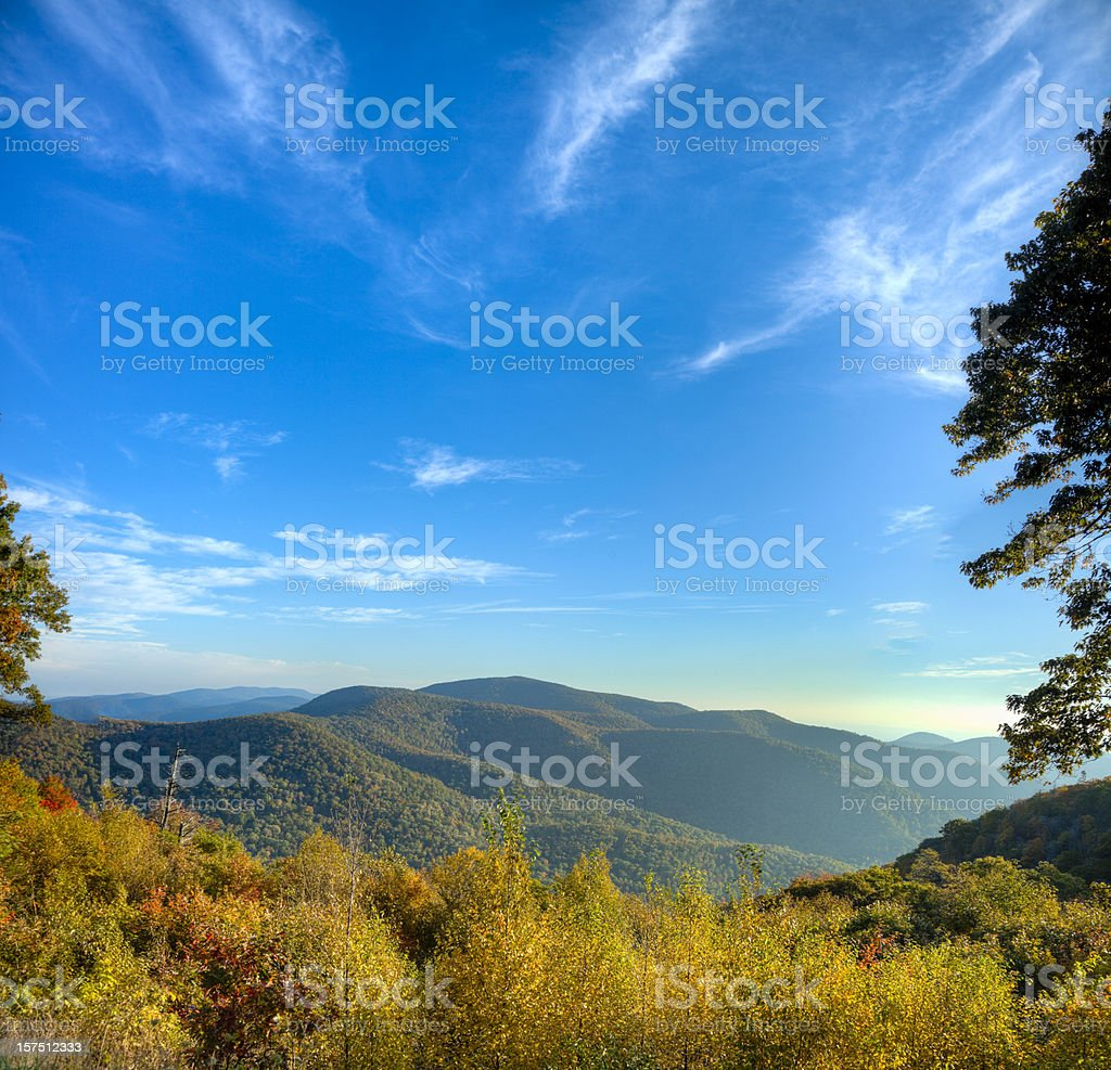Blue Ridge Mountains on a Sunny Morning royalty-free stock photo