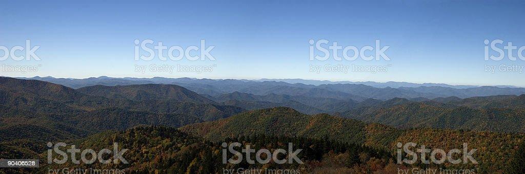 Blue Ridge Mountains Panorama in the Fall stock photo