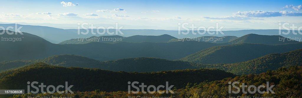 Blue Ridge Mountains Panorama royalty-free stock photo