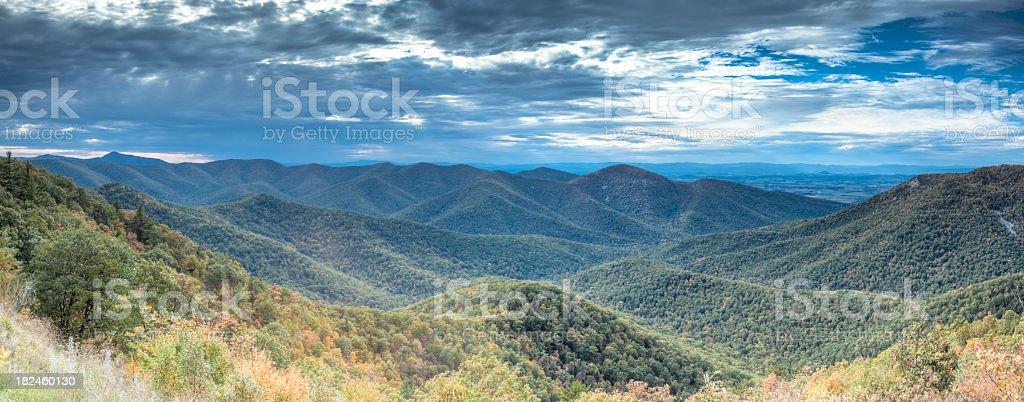 Panorama de las montañas Blue Ridge foto de stock libre de derechos