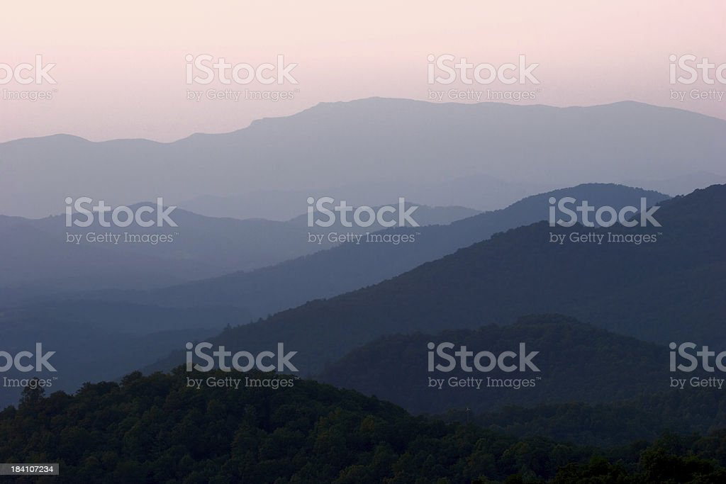 Blue Ridge Mountains royalty-free stock photo
