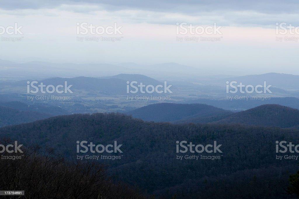 Blue Ridge Mountains - Shenandoah Valley royalty-free stock photo