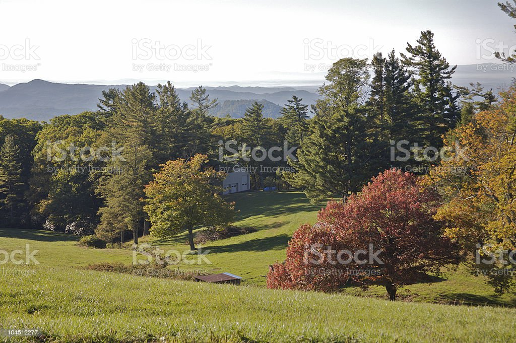 Blue Ridge Mountains Valley View royalty-free stock photo