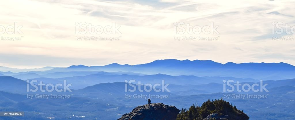 Blue Ridge Mountaintop Embrace. stock photo