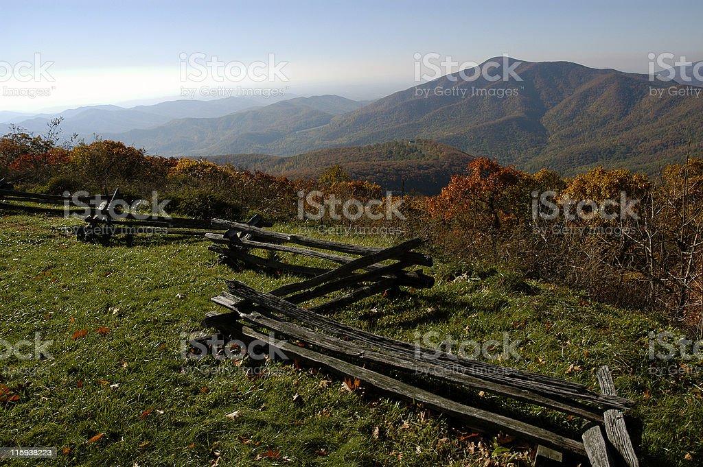 Blue Ridge of Virginia stock photo