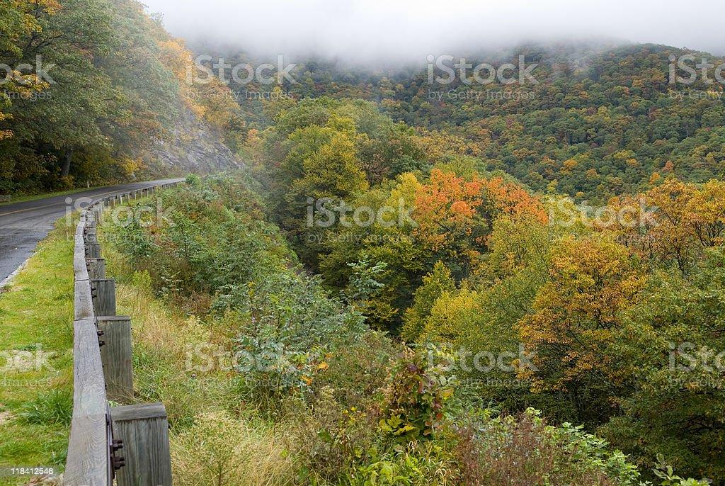Blue Ridge Parkway Autumn royalty-free stock photo