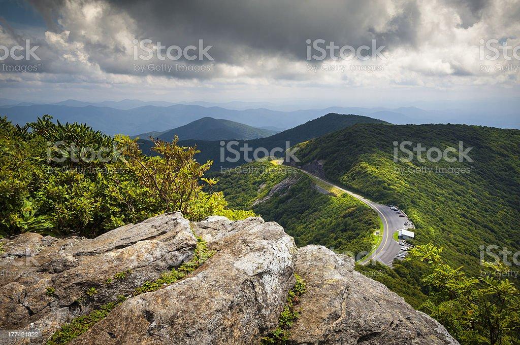 Blue Ridge Parkway Craggy Gardens Scenic Mountains Landscape Asheville NC stock photo