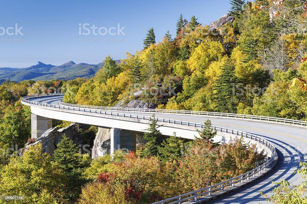 Blue Ridge Parkway, Linn Cove Viaduct stock photo