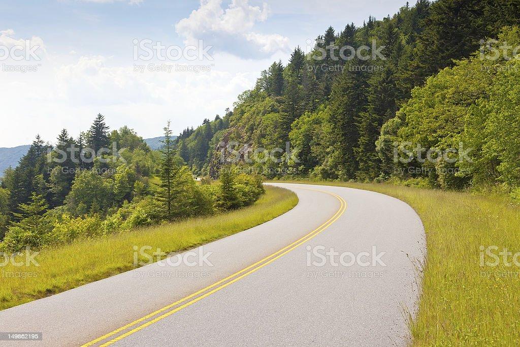 Blue Ridge Parkway, North Carolina royalty-free stock photo