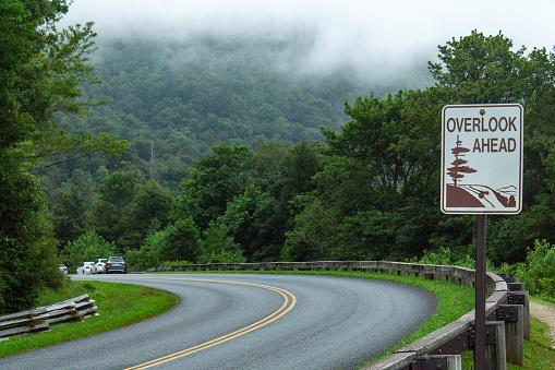 Blue Ridge Parkway overlook sign