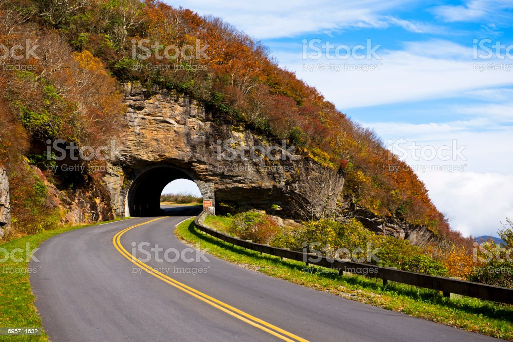 Blue Ridge Parkway, Road Trip stock photo