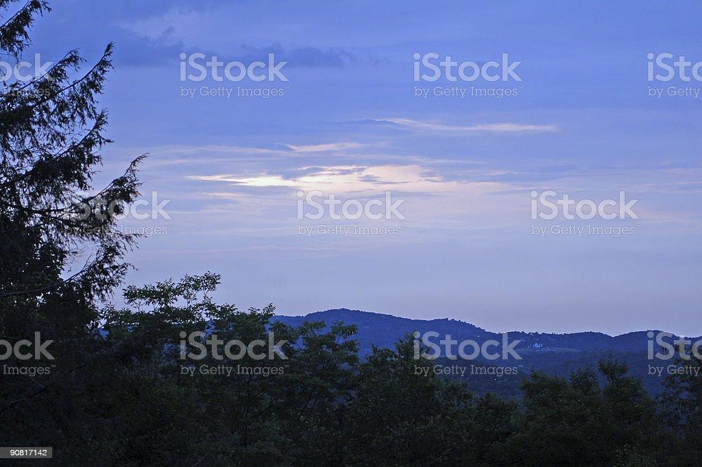 Blue Ridge Parkway Sunrise (N.C.) royalty-free stock photo