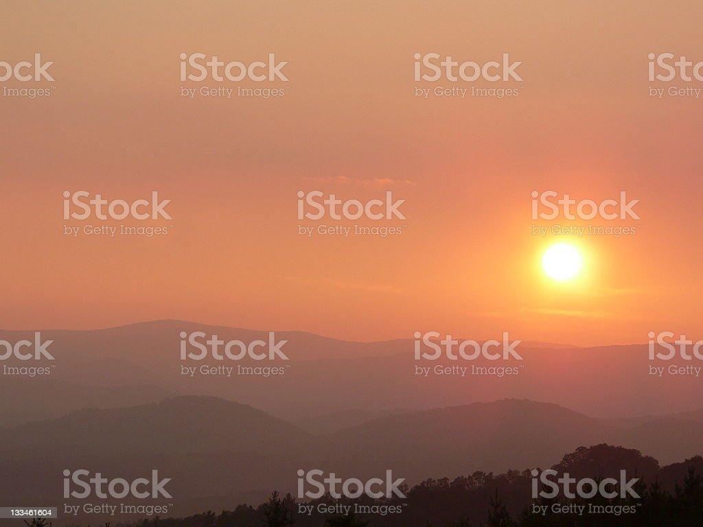 Blue Ridge Summer Sunset royalty-free stock photo