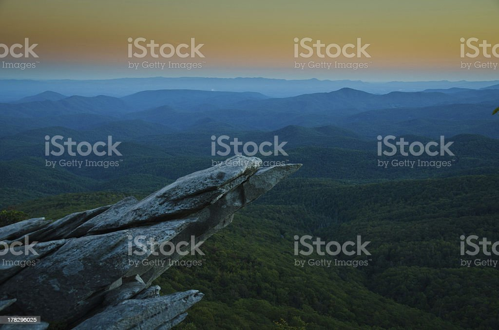 Blue Ridge Views royalty-free stock photo