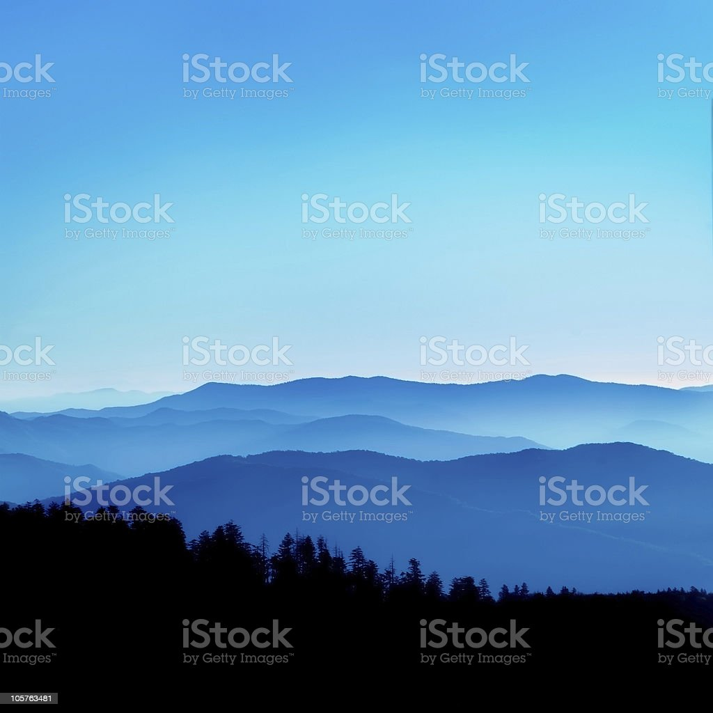 Blue Ridge Vista stock photo