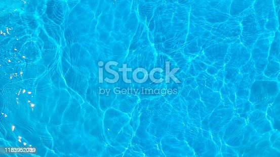 Brigh blue reflection of water.