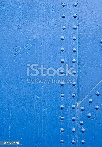 istock Blue Rivet Grunge Background 157179775