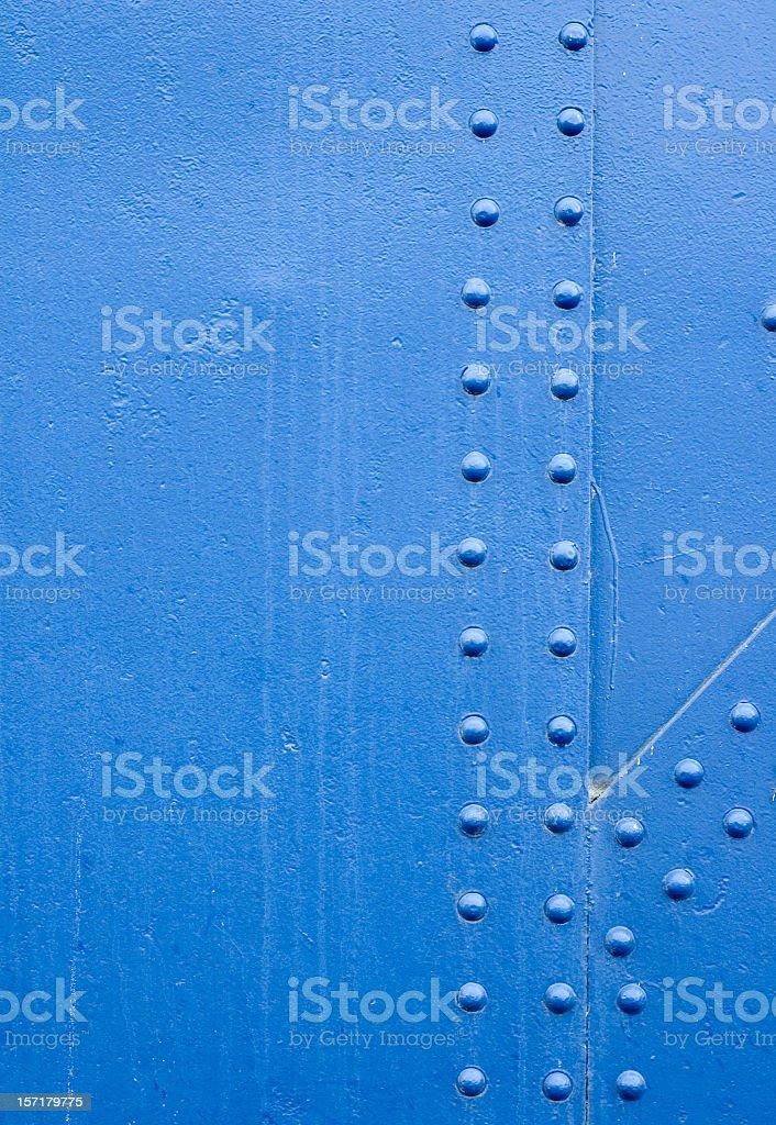 Blue Rivet Grunge Background stock photo