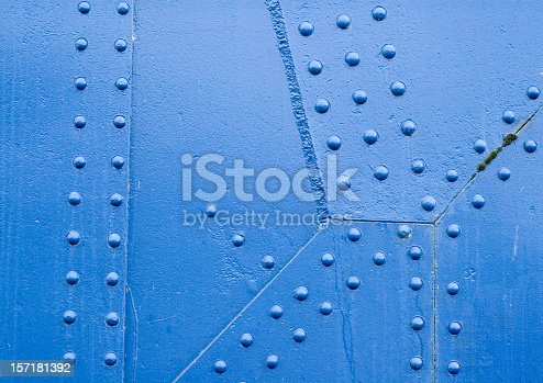 istock Blue Rivet Surface 157181392