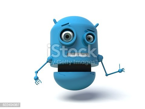 513601840 istock photo Blue robot doing the thumbs up signal. 522404357