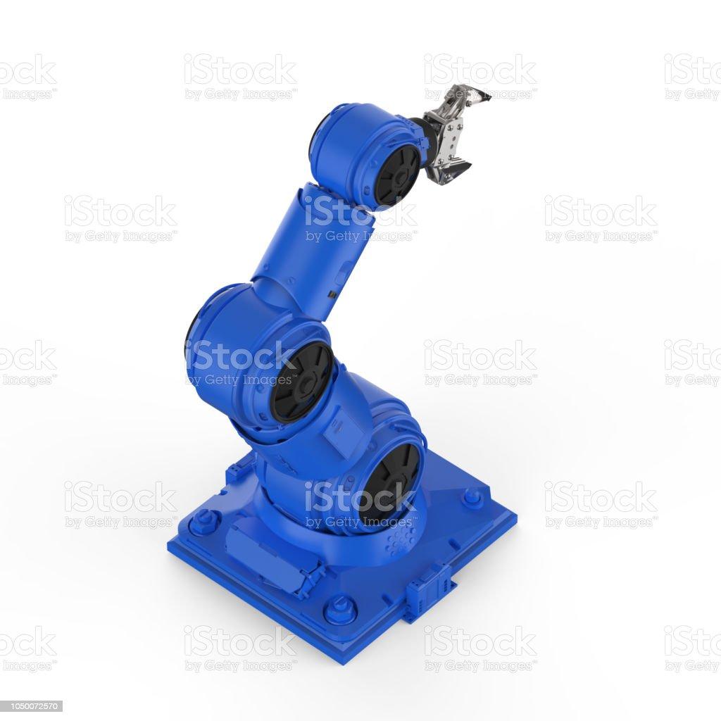 블루 로봇 팔 스톡 사진