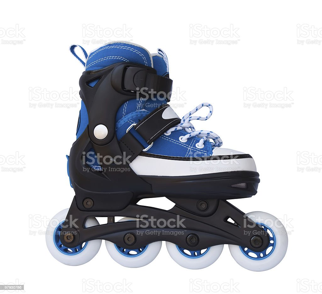 Blue roller skates royalty-free stock photo