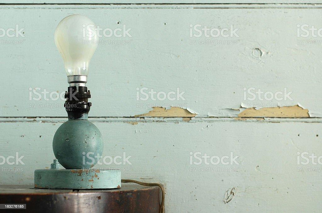 Blue Room - Lamp royalty-free stock photo