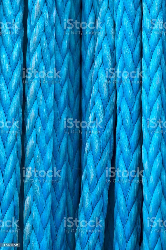 Blue Rope Background or Texture royalty-free stock photo
