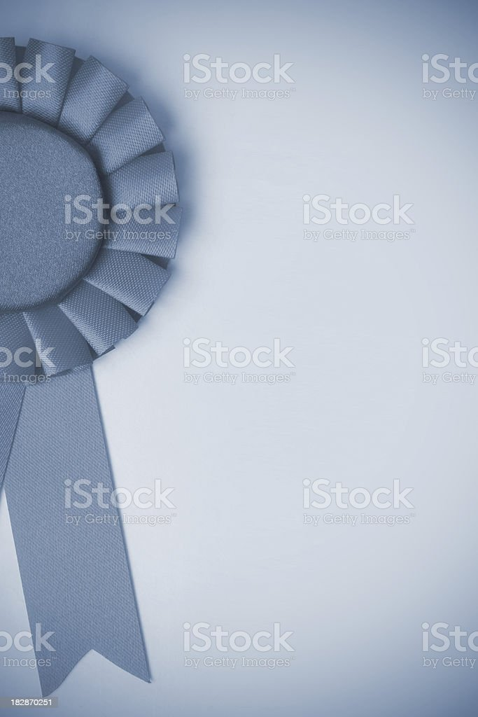 Blue Rosette royalty-free stock photo