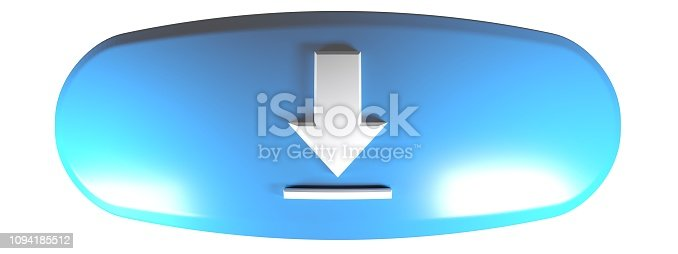 935214858istockphoto Blue rounded rectangle DOWNLOAD - 3D rendering illustration 1094185512