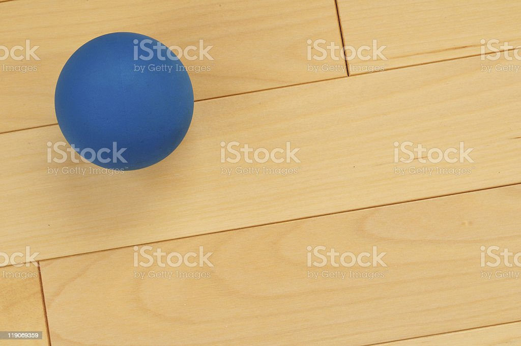 Blue Rubber Racquetball royalty-free stock photo