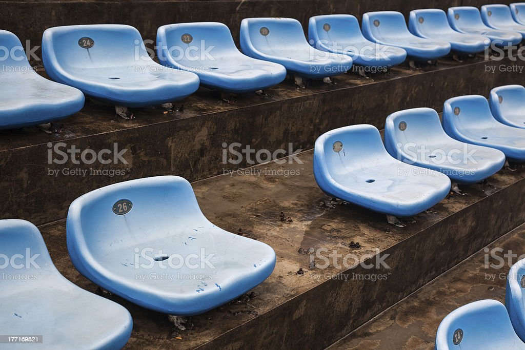 blue rubber seats royalty-free stock photo