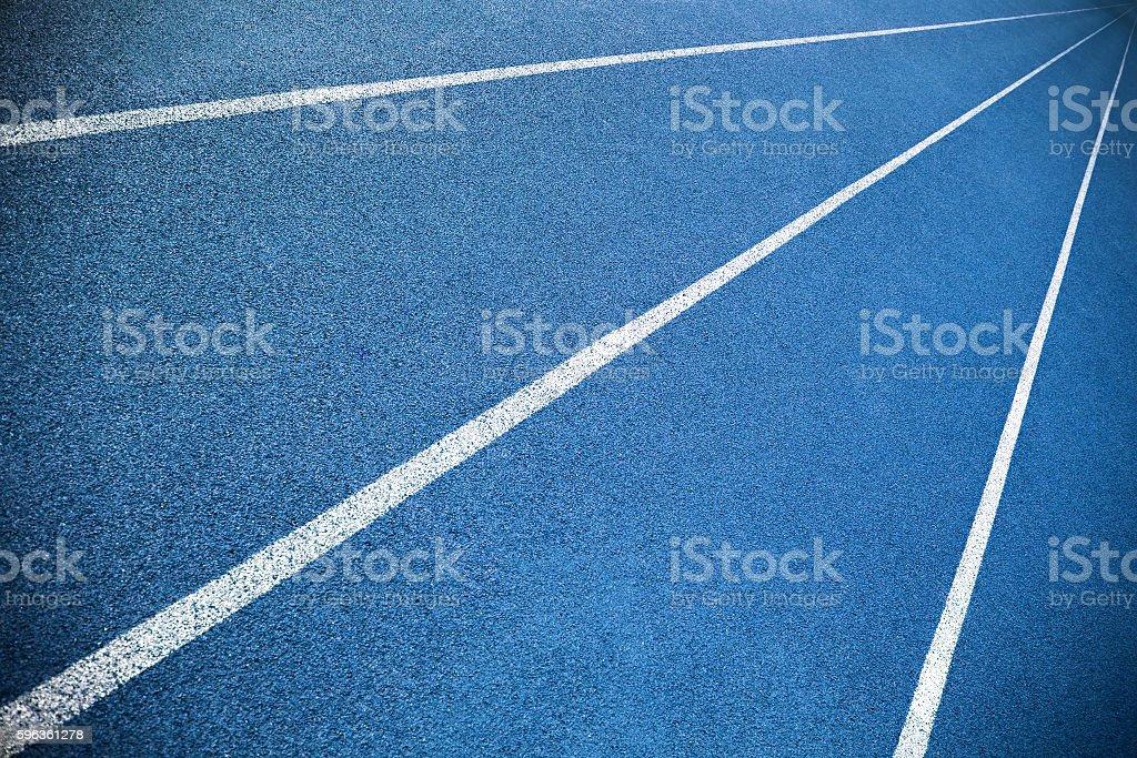 Blue running lanes royalty-free stock photo