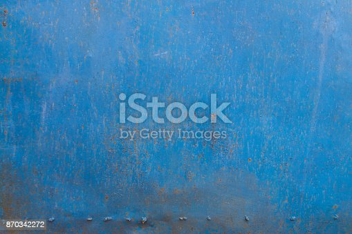 istock Blue rusty metal texture. Grunge abstract background 870342272