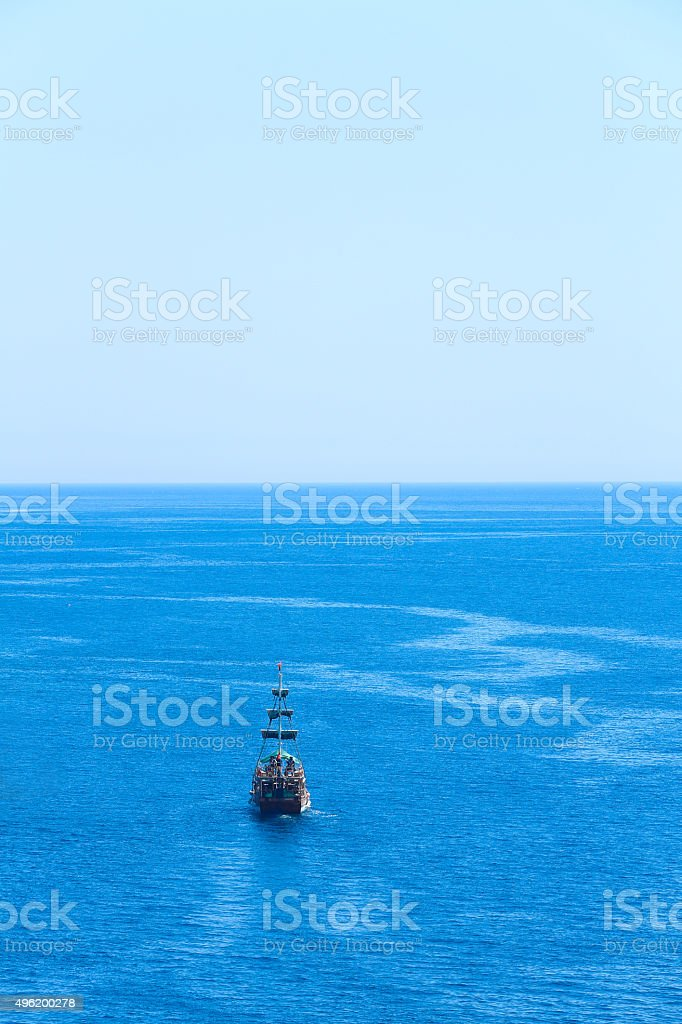 blue sail stock photo