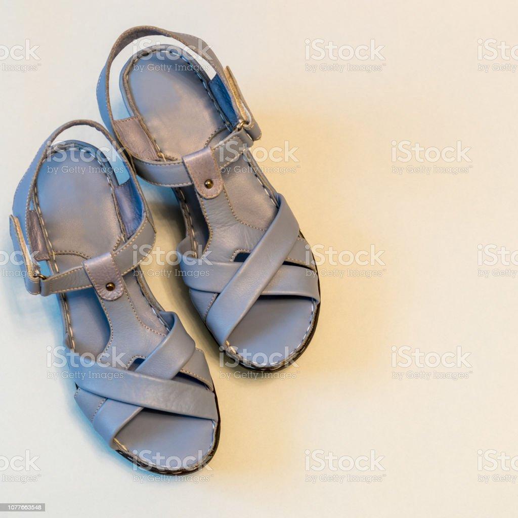 Azules La Claro De Sobre Sandalias Cuero Zapatos Fondo Mujer rCoBdxe